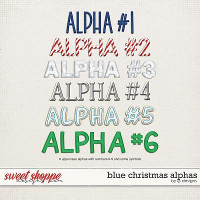 Blue Christmas Alphas by LJS Designs
