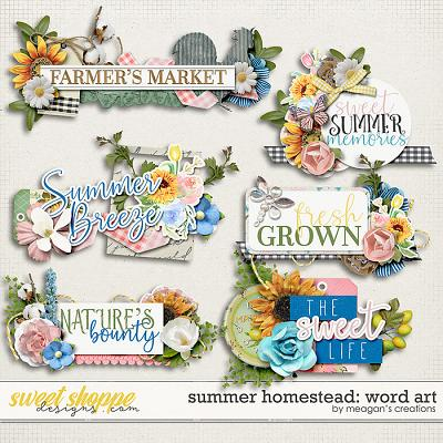 Summer Homestead: Word Art by Meagan's Creations