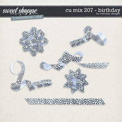 CU Mix 207 - birthday ribbons by WendyP Designs