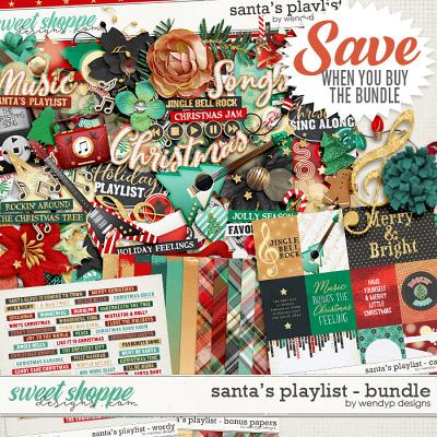 Santa's playlist - Bundle by WendyP Designs