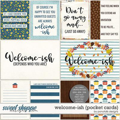 Welcome-ish Pocket Cards by Ponytails