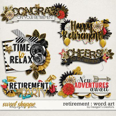 Retirement : Word Art by Meagan's Creations