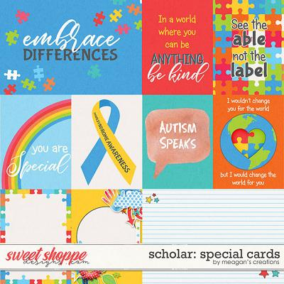 Scholar: Special Cards by Meagan's Creations