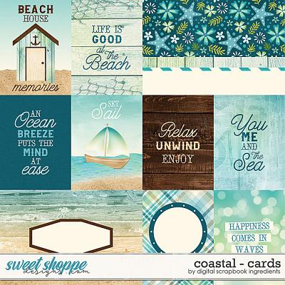 Coastal | Cards by Digital Scrapbook Ingredients
