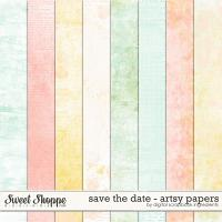 Save The Date | Artsy Papers by Digital Scrapbook Ingredients