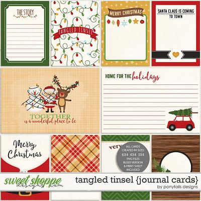 Tangled Tinsel Journal Cards by Ponytails