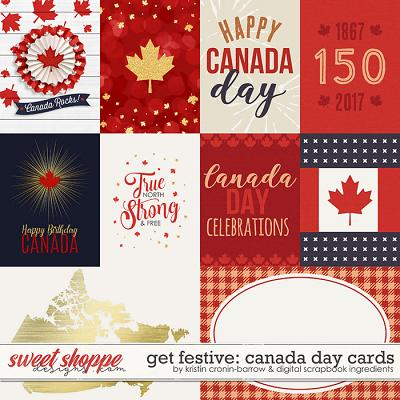 Get Festive: Canada Day | Cards by Kristin Cronin-Barrow & Digital Scrapbook Ingredients