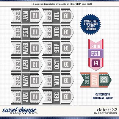 Cindy's Layered Templates - Date It 22 by Cindy Schneider