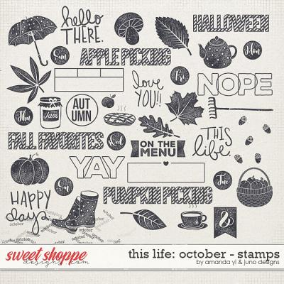 This Life: October - Stamps by Amanda Yi & Juno Designs