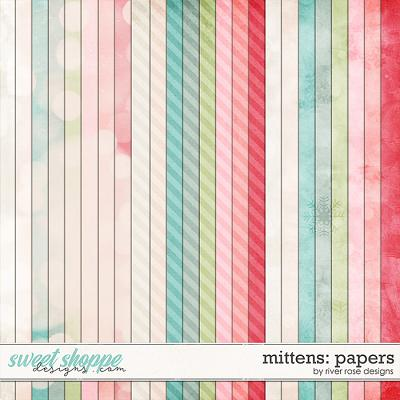Mittens: Papers by River Rose Designs