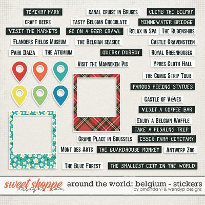 Around the world: Belgium - Stickers by Amanda Yi & WendyP Designs