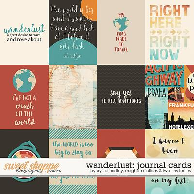Wanderlust-Journal Cards by Krystal Hartley, Meghan Mullens, and Two Tiny Turtles