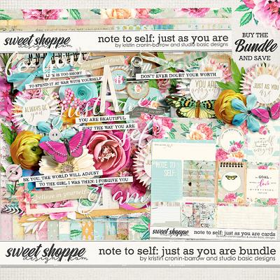 Note To Self: Just as You Are Bundle by Kristin Cronin-Barrow & Studio Basic