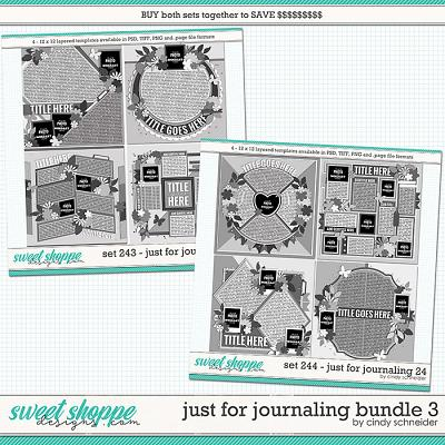 Cindy's Layered Templates - Just for Journaling Bundle 3 by Cindy Schneider