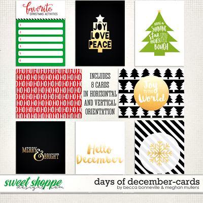 Days of December Cards by Meghan Mullens & Becca Bonneville
