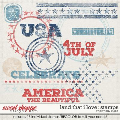 Land That I Love Stamps by Jady Day Studio