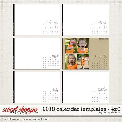 2018 Calendar Templates - 4x6 by Libby Pritchett