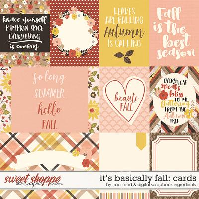 It's Basically Fall | Cards by Traci Reed & Digital Scrapbook Ingredients