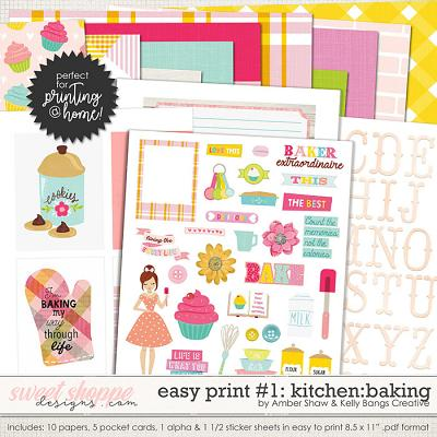 In My Kitchen: Baking Easy Print #1 by Amber Shaw and Kelly Bangs Creative