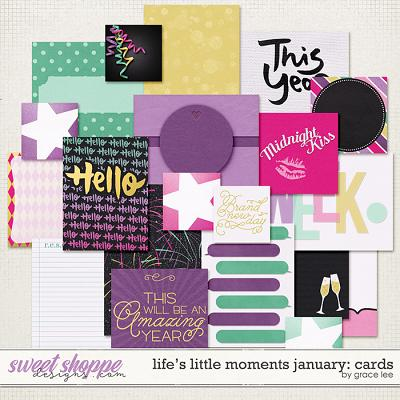 Life's Little Moments January Cards by Grace Lee