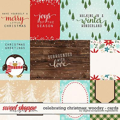 Celebrating Christmas: Woodsy | Cards by Digital Scrapbook Ingredients