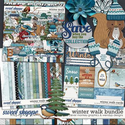 Winter walk - Bundle by Clever Monkey Graphics & WendyP Designs
