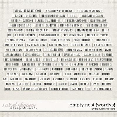 Empty Nest Wordys by Ponytails