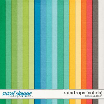 Raindrops {Solids} by Digilicious Design