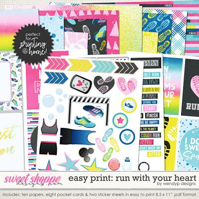 Run with your heart - Easy print by WendyP Designs