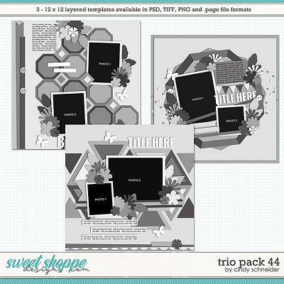 Cindy's Layered Templates - Trio Pack 44 by Cindy Schneider