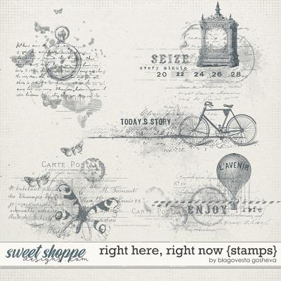 Right here, right now {stamps} by Blagovesta Gosheva