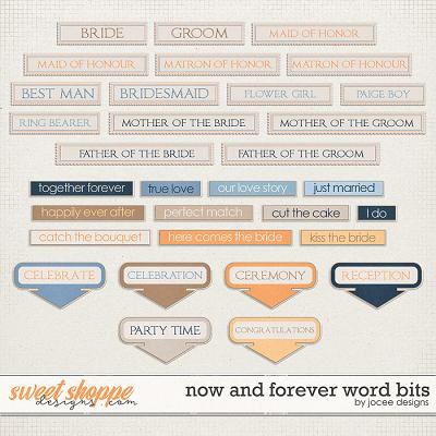 Now and Forever Word Bits by JoCee Designs
