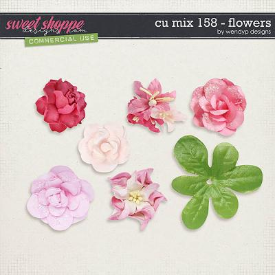 CU Mix 158 - flowers by WendyP Designs