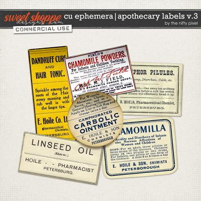 CU EPHEMERA | APOTHECARY LABELS V.3 by The Nifty Pixel