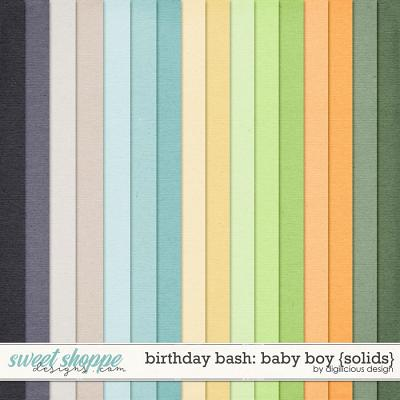 Birthday Bash: Baby Boy {Solids} by Digilicious Design