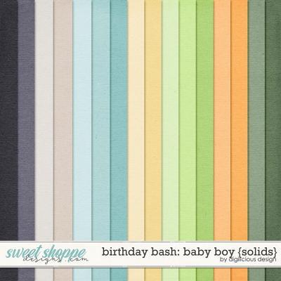 Birthday Bash: Baby Boy {Solids} by Digilicious Design