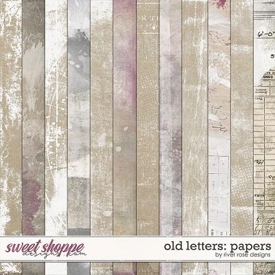Old Letters: Papers by River Rose Designs