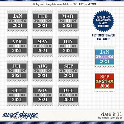 Cindy's Layered Templates - Date It 11 by Cindy Schneider