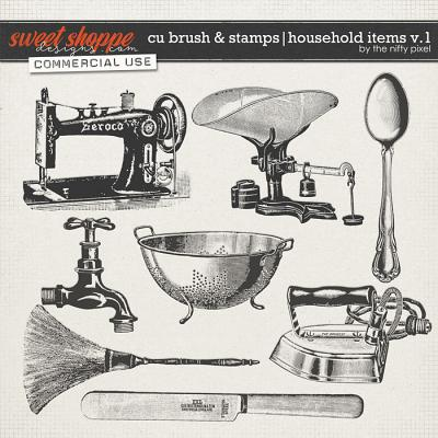 CU BRUSH & STAMPS | HOUSEHOLD ITEMS V.1 by The Nifty Pixel