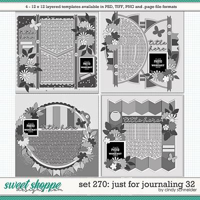 Cindy's Layered Templates - Set 270: Just for Journaling 32 by Cindy Schneider