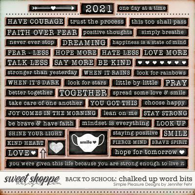 back to school chalked up word bits: simple pleasure designs by jennifer fehr