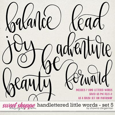 Handlettered Little Words - Set 5 by Shawna Clingerman