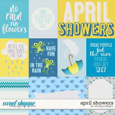 April Showers - cards by WendyP Designs