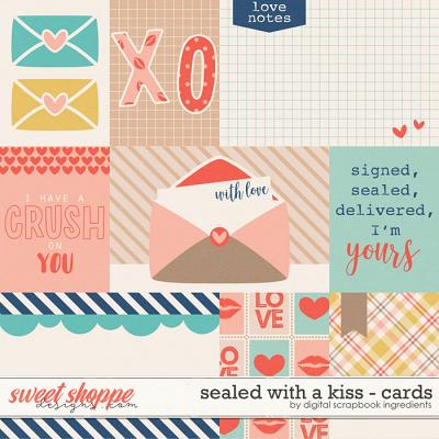 Sealed With A Kiss | Cards by Digital Scrapbook Ingredients