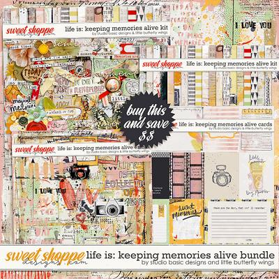 Life Is: Keeping Memories Alive Bundle by Studio Basic and Little Butterfly Wings