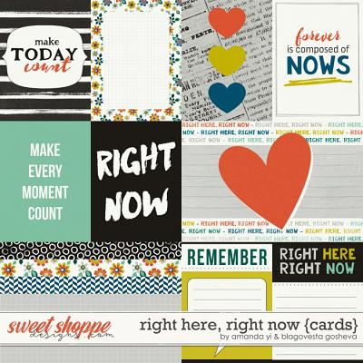 Right Here, Right Now : Cards by Amanda Yi & Blagovesta Gosheva