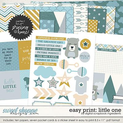Easy Print: Little One by Digital Scrapbook Ingredients