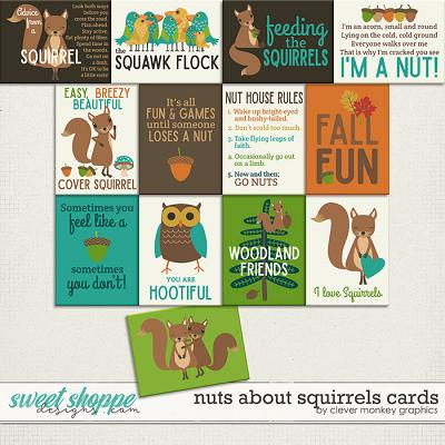 Nuts about Squirrels Cards by Clever Monkey Graphics