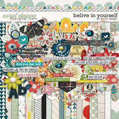 Believe In Yourself by Red Ivy Design
