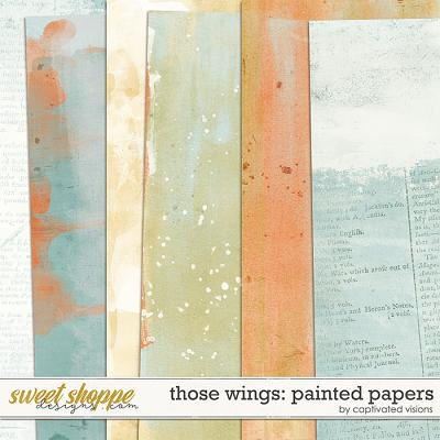 Those Wings: Painted Papers by Captivated Visions